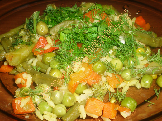 рецепты приготовления риса с овощами на гарнир
